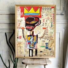 Jean Michel Basquiat Kunst Crown Leinwand Malerei Wand Kunstdruck Poster Bild Dekorative Malerei Wohnzimmer Dekoration
