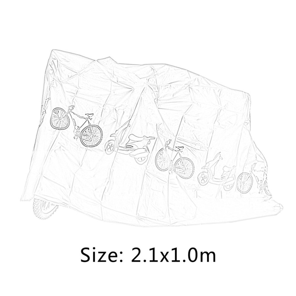 Купить с кэшбэком Universal Bicycle Rain Dust Proof Cover Outdoor Waterproof UV Protector Cover MTB Bike Electric Motorcycle Scooter Accessories