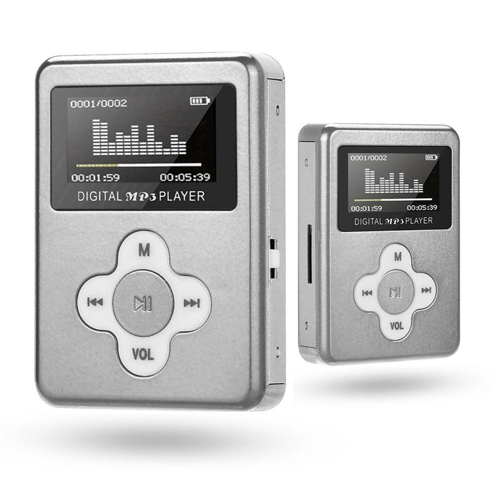 Compact Portable With Screen Card Mp3 Voice Mp3 Player Charging Port Plum Button Student Creative Gift