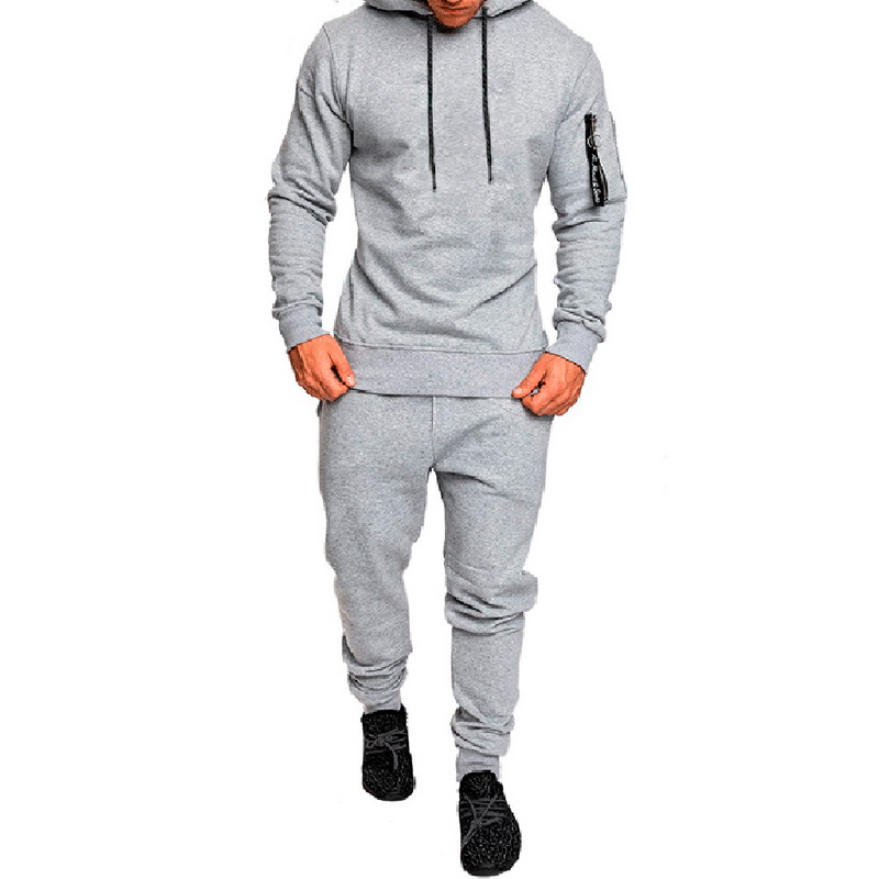 DIHOPE Men Camouflage Printed Sets 2020 Causal Patchwork Jacket Tracksuit Sportswear Hoodie Sweatshirt Pants Jogger Suit