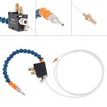 미스트 냉각수 윤활 스프레이 시스템 공기 오일 컨트롤 버튼/8mm 공기 커넥터/금속 절단 조각 냉각 용 4mm 오일 파이프
