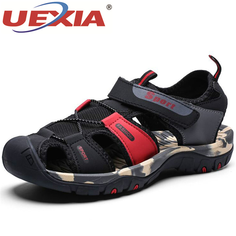 UEXIA 2020 NEW Summer New Men Soft Sandals Comfortable Water Shoes Soft Beach Roman Sneakers Footwear Outdoor Breathable Walking