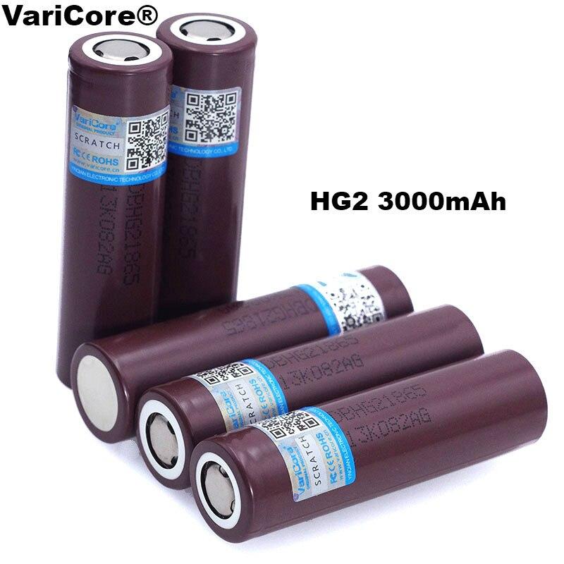 VariCore-batería Original HG2 18650 de 3000mAh, 18650HG2, 3,6 V, descarga, 20A, para baterías de cigarrillo electrónico