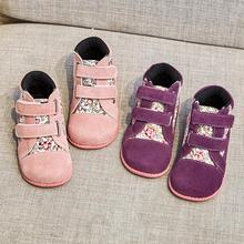 Tipsietoes 2020 Mới Mùa Đông Giày Trẻ Em Da Và Vải Giày Bốt Martin Trẻ Em Tuyết Bé Gái Bé Trai Giày Thời Trang Chaussure Fille