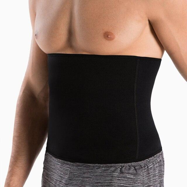 Newest Men Sweat Belt Body Shaper Waist Trainer Tummy Control Belt Sauna Slimming Strap Fitness Sweat Shapewear for Fat Burner 3