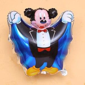 Дисней Минни Микки Маус игрушки руки воздушные шарики из фольги на палочке тема большая голова воздушный шар детская вечеринка на день рожд...