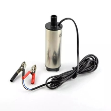 Portable Mini Electric Submersible Pump For Pumping Diesel Oil Water Fuel Transfer Pump Stainless Steel Shell 12L/min DC 12V 24V
