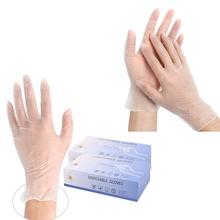 100 szt Rękawice ochronne jednorazowe przemysłowe rękawice winylowe-uniwersalny przezroczyste rękawice do czyszczenia PVC tanie tanio CN (pochodzenie)