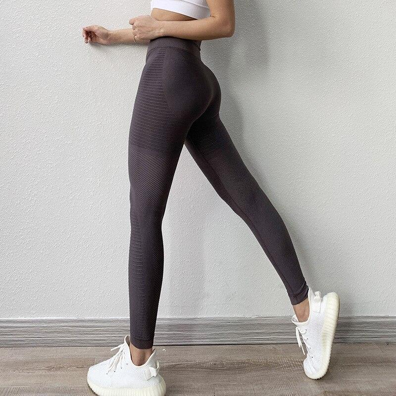 Женские Бесшовные легинсы с высокой талией, штаны для йоги, женские спортивные Леггинсы, тренировочные колготки, леггинсы для тренажерного