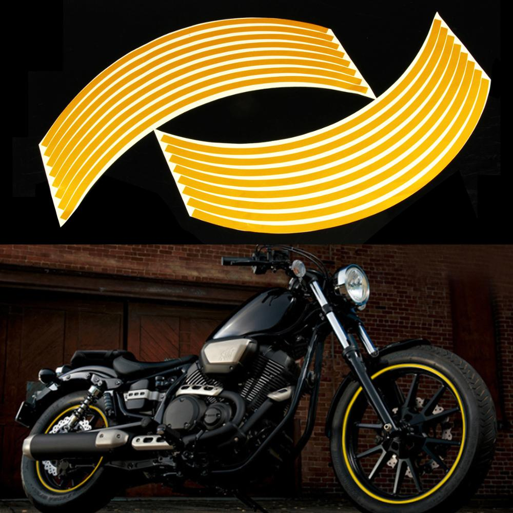 12Inch Reflective Moto Stickers Motobike Motorcycle Wheel Tape Stickers Rim Decal Stickers Aqua Print Motorcycle Accessories