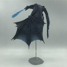 19Cm Seizoen 8 Viserion Ice Dragon Joint Beweegbare Pvc Figuur Nacht Koning Knight Model Collectieve Speelgoed