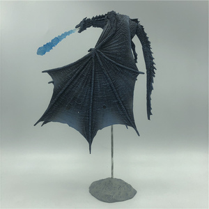Image 1 - 19cm  Season 8 Viserion Ice Dragon Joint Movable PVC Figure Nights King Knight Model Collective Toys