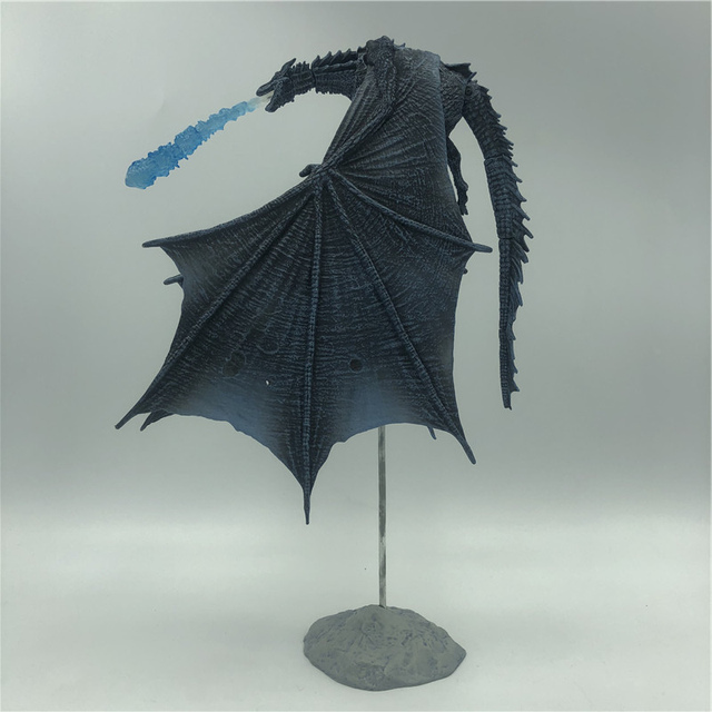 19cm  Season 8 Viserion Ice Dragon Joint Movable PVC Figure Nights King Knight Model Collective Toys