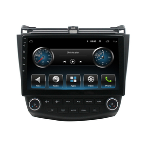 for Honda Accord 2003-2007 10.1 Inch Android 9.1 Bluetooth Radio MP5 Player GPS Navigation with Rear View Camera(2+32GB)