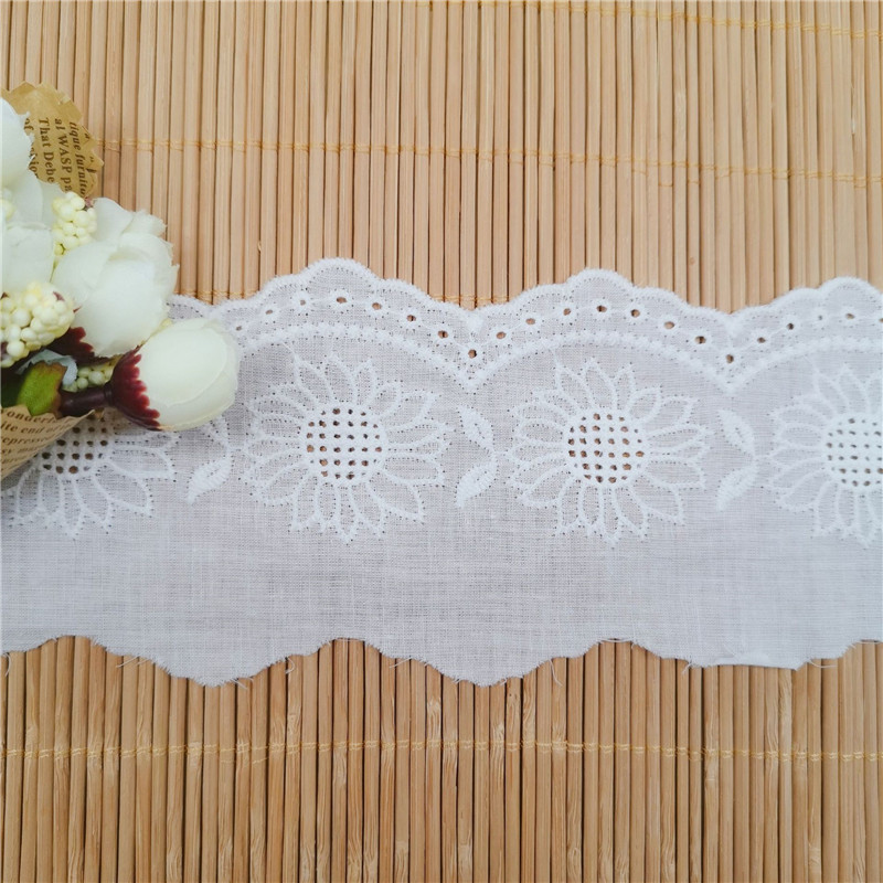 "1//2/"" wide Black Cotton Edge Lace Made in France -By the Yard"