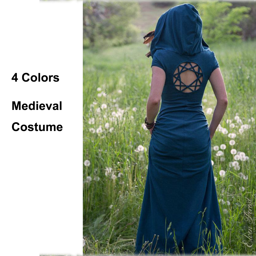 Renaissance Medieval Back Star Hallow Hoddies Carnival Halloween Costumes For Women Cosplay Princess Party Victorian Fancy Dress