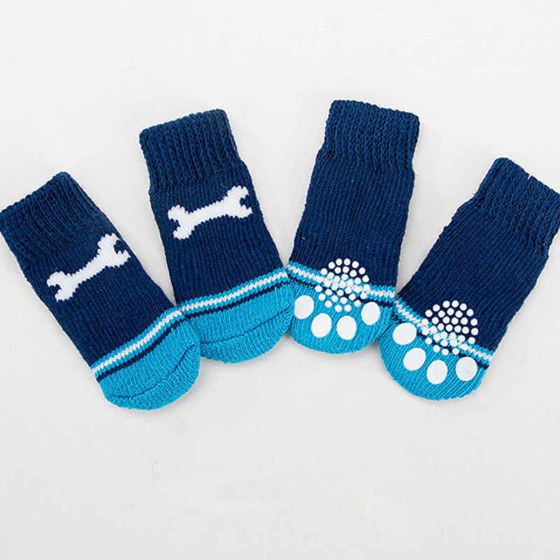 4 stuks Hond Winter Schoenen Huisdier Puppy Zachte Warme Sokken Laarzen Dikke Warme Poot Protector Hond Sokken Booties Accessoires