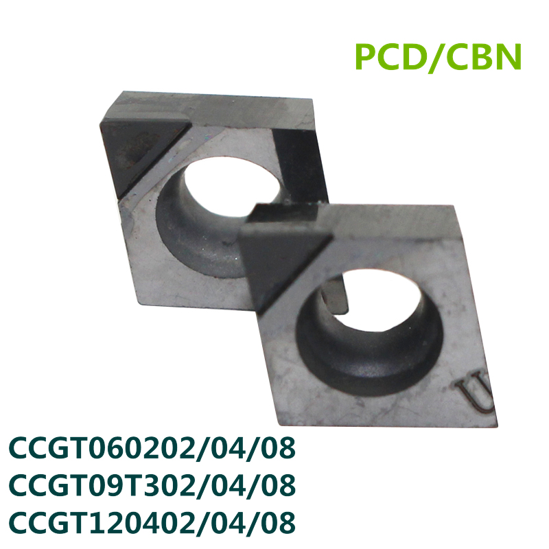 2PCS PCD/CBN Turning Inserts CCMT060204 CCMT09T304 CCGT09T CCGT09T304  Knife Diamond Inserts For Lathe Tools Cubic Boron Nitride