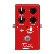 Twinote Analog Modern FUZZ efektleri Pedal işlemci bozulma yüksek kazanç tüp ses elektro gitar efekt pedalları aksesuarları