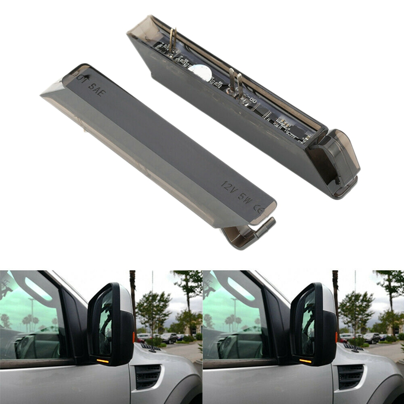 LED Under Side Mirror Turn Signal Lights Smoke Lens for Ford F-150 2004-2014