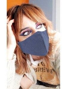 Тип маски мордочка из джинсовой ткани. Маска для лица из ковбойской ткани, моющаяся многоразовая. С резиновой регулируемой стороной.