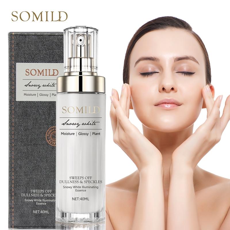 SOMILD Luxury Korean Cosmetics Snowy White Face Serum Whitening Women Firming Emulsion Plant Essence Skin Care Wrinkle Cream
