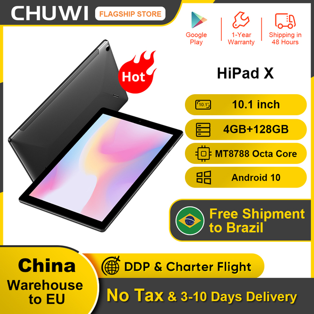 CHUWI HiPad X  10.1 inch FHD Android 10.0 Tablet PC Helio MT8788 Octa core 4GB RAM 128G ROM  4G LTE  Phone Call Tablet 1