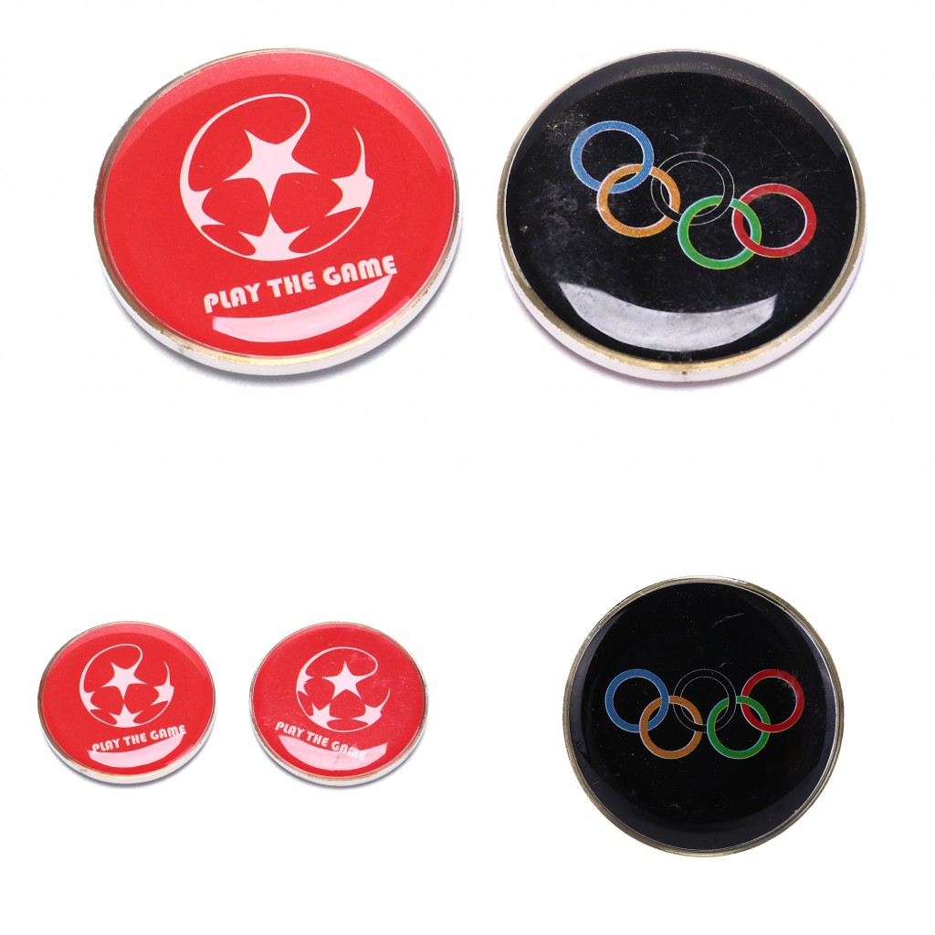 1pcs Sports Soccer Football Champion Pick Edge Finder Coin Toss Referee Side Coins For Table Tennis Football Matches