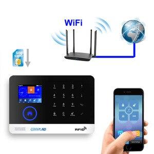 Image 3 - Sistema de alarma GSM GPRS antirrobo inalámbrico para el hogar inglés ruso español alemán polaco italiano francés RFID APLICACIÓN DE Android IOS de tarjetas