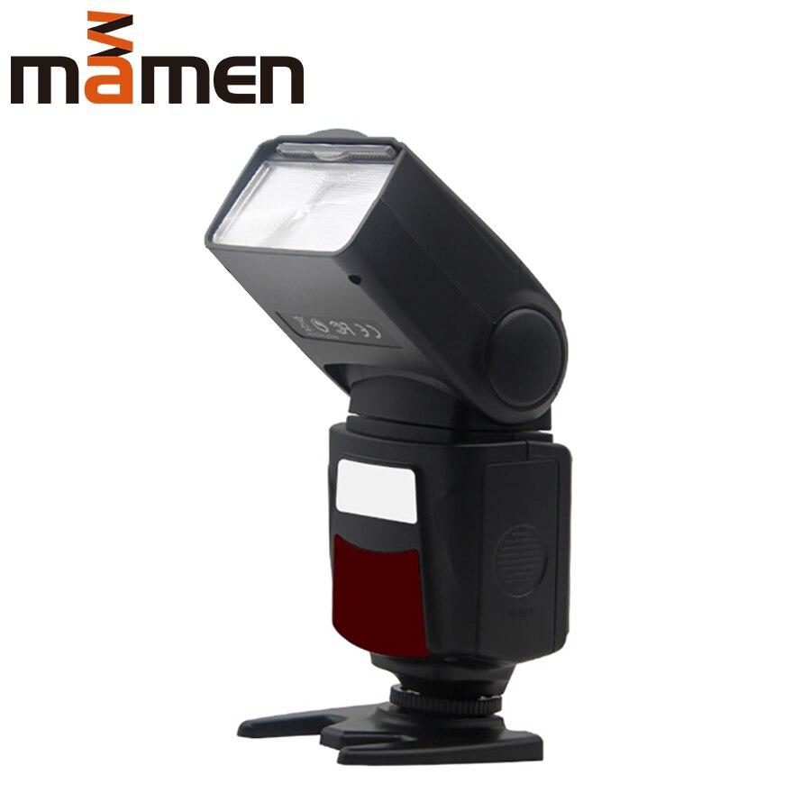 MAMEN Flash Flash Speedlite sans fil Master Speedlight pour Nikon D750 D810 D7200 Canon appareil Photo DSLR lampe de lumière sur téléphone