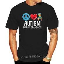 2020 Fashion Hot Sale Inktastic Autism for My Grandson Puzzle Ribbon Women's Plus Size T-Shirt Asd Pdd Tee Shirt