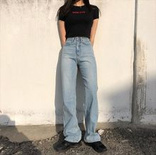 Jean Woman Boyfriend Jeans High Waist Trousers Female Denim Pants Women Wide Leg Pants Full Length Jean Loose Pant Streetwear 2017 fashion high waist jeans women loose denim woman s wide leg pants side stripe hollow pants female boyfriend jeans