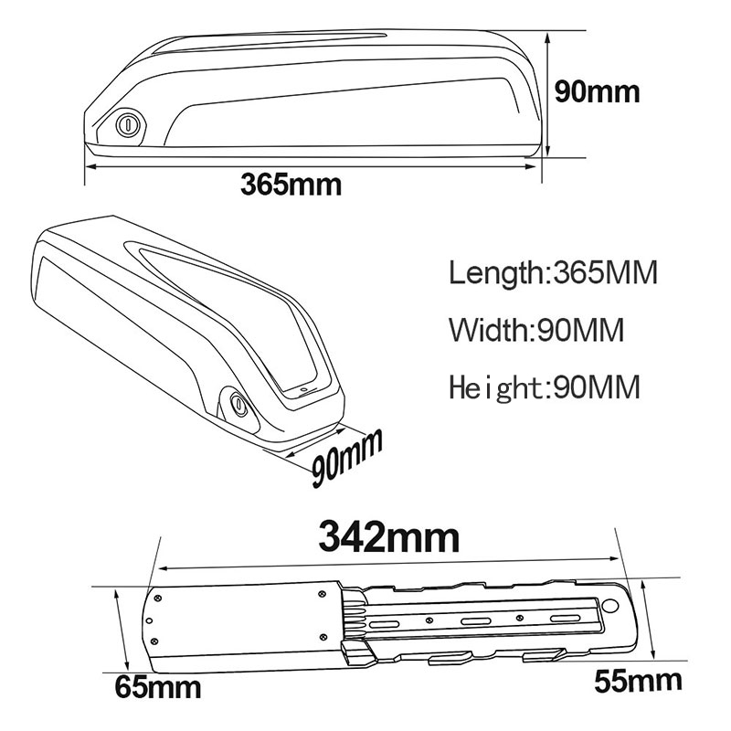 Size hailong battery 9.17