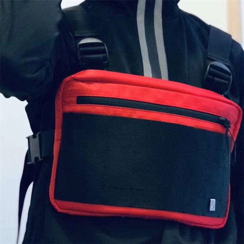 Men Tactical Chest Rig Bag Streetwear Function Hip Hop Bag Multifunction Unisex Chest Bag Tooling Chest Hang Pack Kanye West