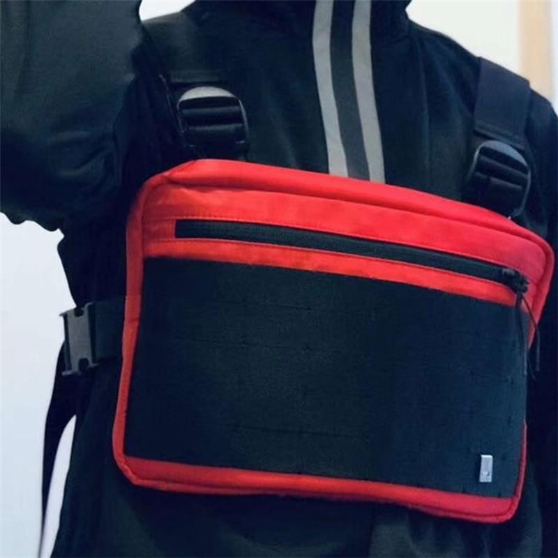 Men Tactical Chest Rig Bag Streetwear Function Hip Hop Bag Multifunction Unisex Chest Bag Tooling Chest Hang Pack Kanye West