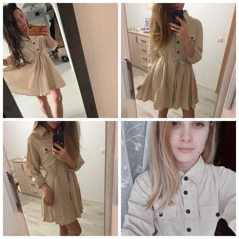 Vintage Frauen Mini Shirt Kleid Casual Laterne Hülse Kurze Sommerkleid drehen-unten Kragen Spitze Up Leinen kleid Sommerkleid Weibliche kleider