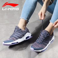 Li Ning Women Bubble Face DB Cushion Walking Shoes Fitness Comfort Sneakers Breathable LiNing Sports Shoes AGCN008 SJFM18
