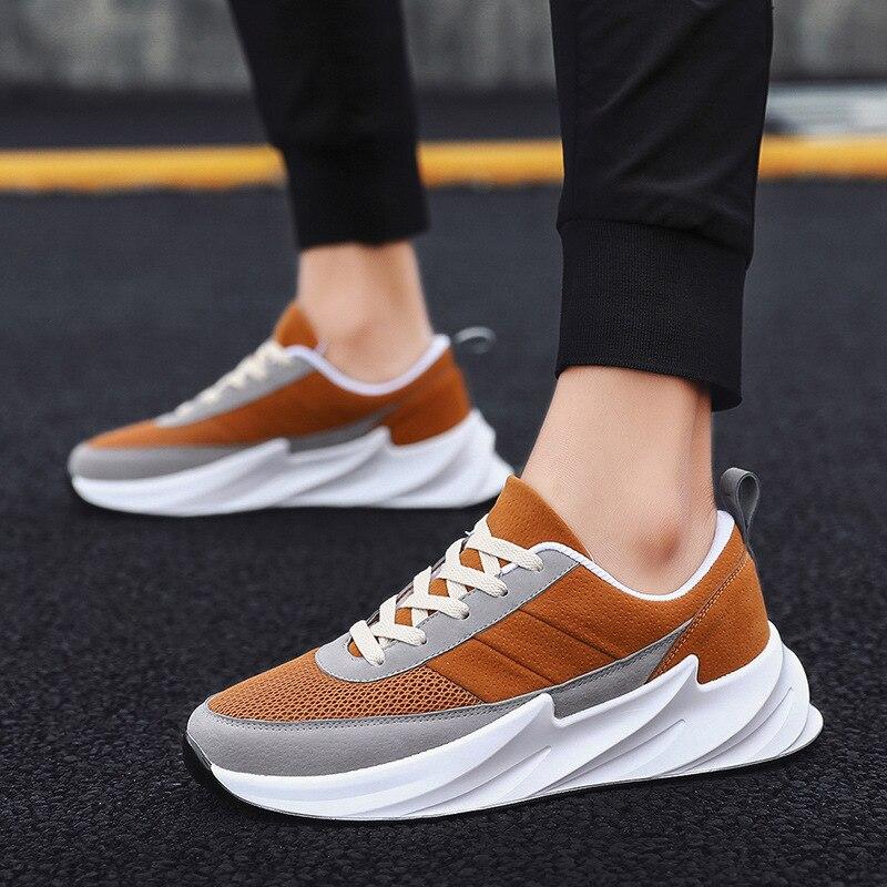 Vertvie/Новинка; мужская повседневная обувь; кроссовки на толстой подошве; мужская обувь на платформе; модные черные, белые мужские туфли на шну...