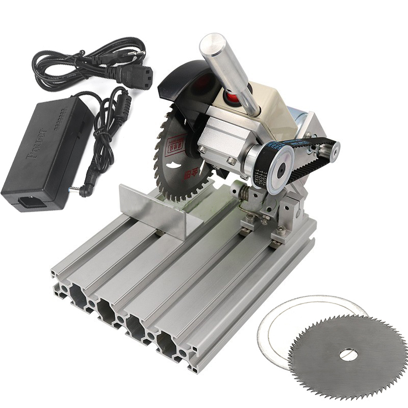 895 Motor DIY 45Degree Wood Steel Cutting Machine Mini Aluminum Alloy 4 Inch Table Saw Stainless Steel Cutter Mini Bench