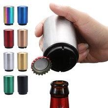 Portátil magnético automático de aço inoxidável suco cerveja cola abridor de garrafa festa bebendo tampa abridores ferramentas barra cozinha gadgets