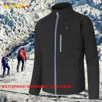 USB Elektrische Beheizte Jacken Winter Warm Halten Heizung Wandern Jacken Winddicht Thermische Sport Mantel für Ski Reiten Camping Jagd