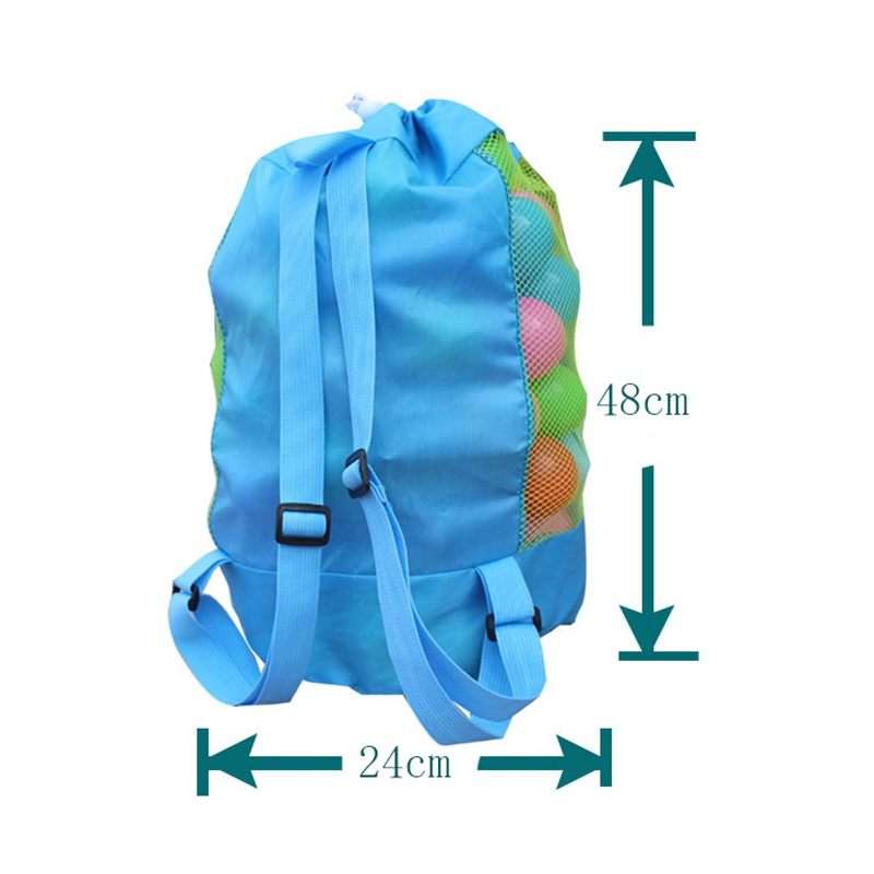 48x24cm Portable Beach Bag Foldable Mesh Swimming Bag For Children Beach Toy Storage Bag Kids Outdoor Swimming Waterproof Bags