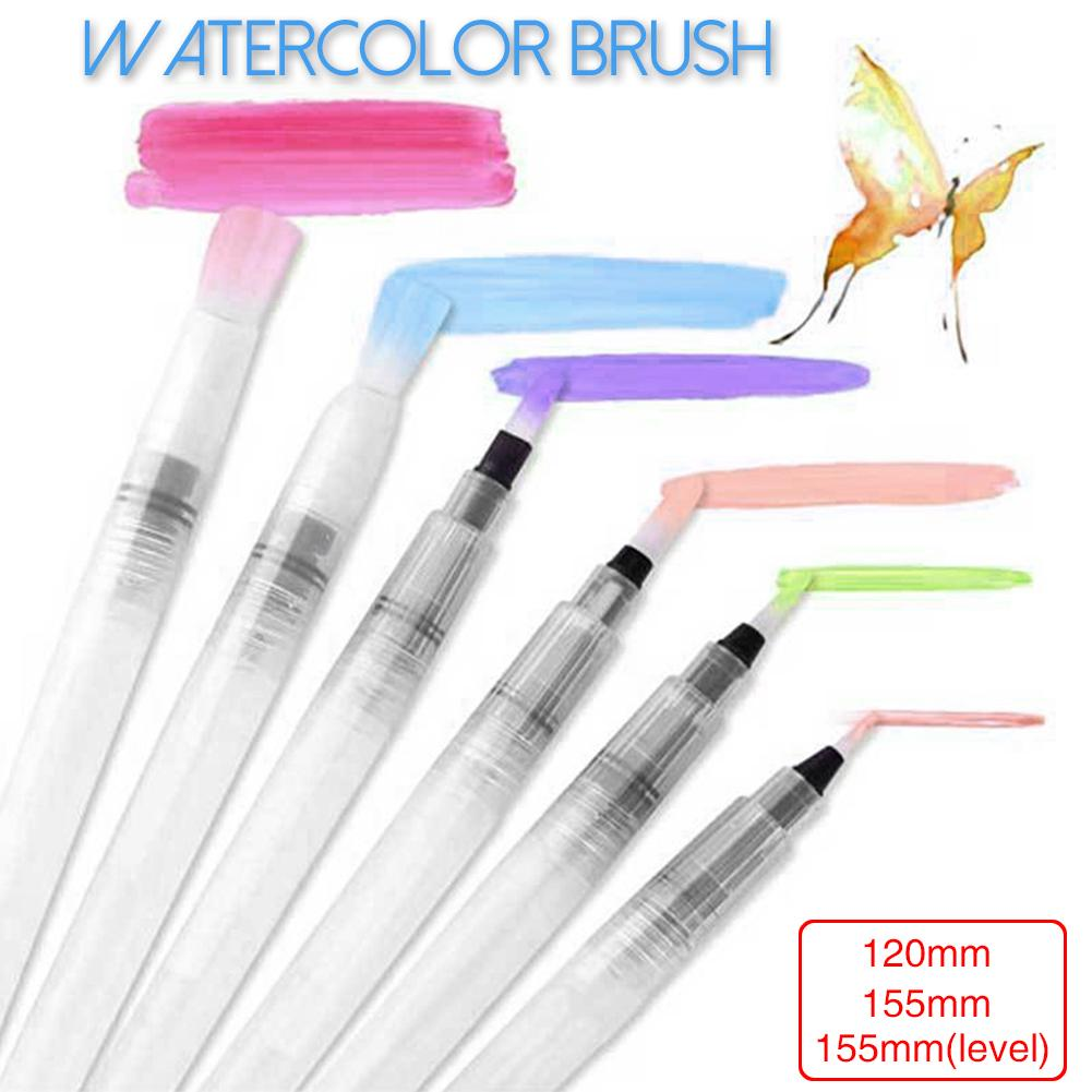 Portable Paint Brush Water Color Brush Pencil Soft Brush Pen For Beginner Painting Drawing Art Supplies #BW