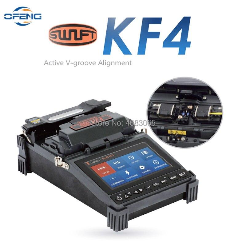 English menu FTTH fiber fusion splicer Swift KF4 Optical fiber optic cable Automatic Touch Screen Optic Splicing Machine