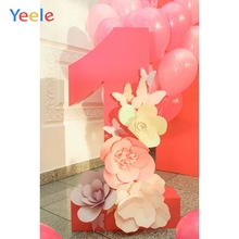 Yeele 1st Birthday Photocall Paper Flower Ins Decor Photography Backdrops Personalized Photographic Backgrounds For Photo Studio