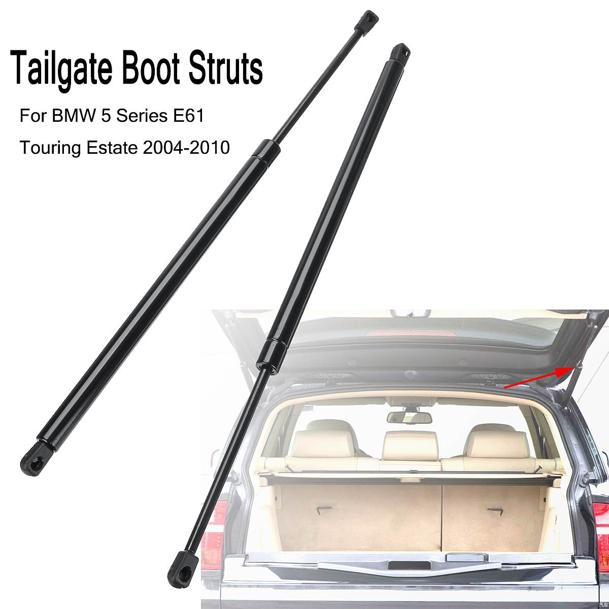 2PCS Car Rear Gas Tailgate Boot Lift Support Struts For BMW 5 Series E61  Estate 2004-2010 51247178273