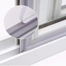 2m auto adesivo janela gap vedação tira tempo descascamento à prova de vento à prova de som espuma porta deslizante inferior selo mousse acoustique