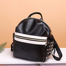 2020 Tide Backpack Korean Fashion Casual Travel Bag Wild Pu Soft Leather Backpack Travel Personality Schoolbag Bag for Girls