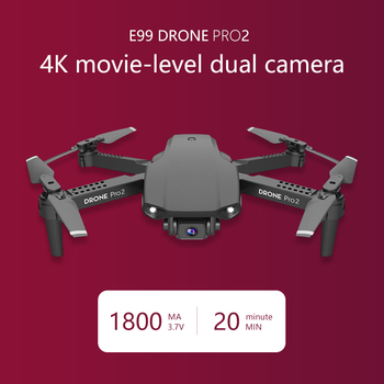 E99 Pro2 Mini Drone Skimmer With 4K 1080P 720P Dual Camera WIFI FPV Aerial Photography Helicopter RC Foldable Quadcopter Kid Toy 2