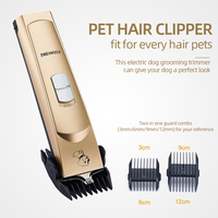 Dog Grooming Clippers Low Noise Rechargeable Cordless Pet Clippers Grooming Kit Dogs Cats Pets Hair Clippers Shaver Tools